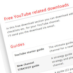 Download free youtube templates, guides, checklists, examples and spreadsheets
