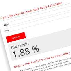 YouTube view to subscriber ratio calculator