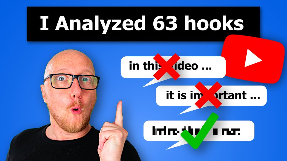 What to say in your YouTube intro? 63 hooks tested